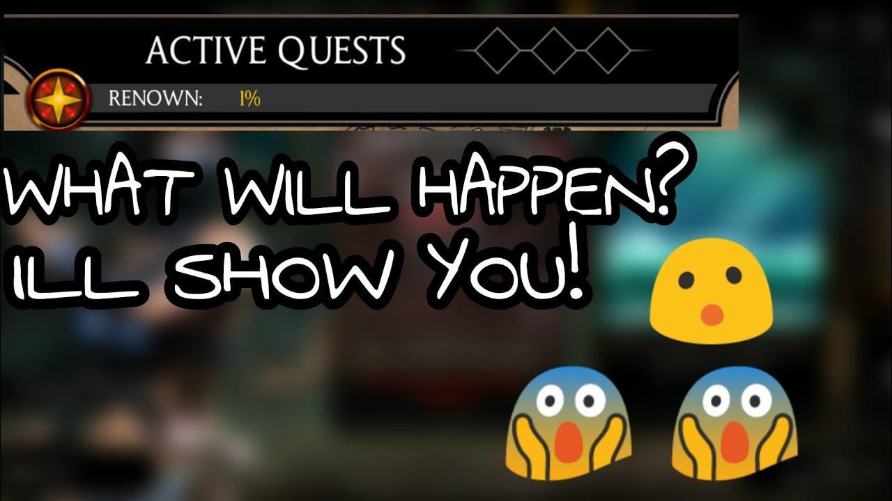 WHAT WILL HAPPEN IF RENOWN POINTS IS FULL!?:MKX MOBILE