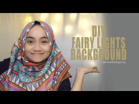 DIY Fairy Lights Background / Backdrop Tutorial . Simple & Affordable
