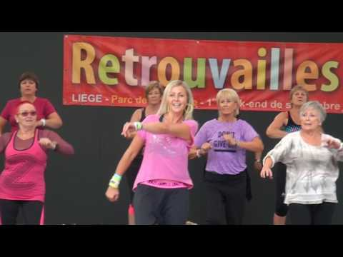 Zumba à Liège – démo Zumba Gold Retrouvailes 2016 – Remedy Machel Montano