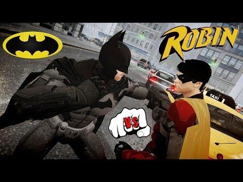 Batman vs Robin - Epic Battle - Grand Theft Auto