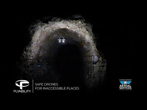 Underground Mining Drone: stope photogrammetric mapping - Flyability Elios 2 - Barrick Gold, UAS Inc