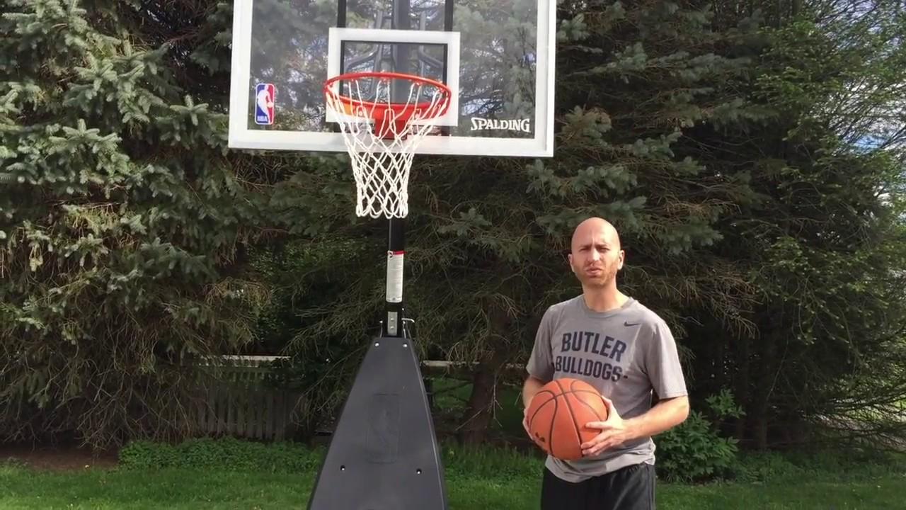 Spalding Hybrid Portable Basketball Hoop Youtube