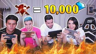 ¡ME DAN 10,000 DIAMANTES por KILL en FREE FIRE! Ft Antronix, Hectorino y Watzap *final inesperado*