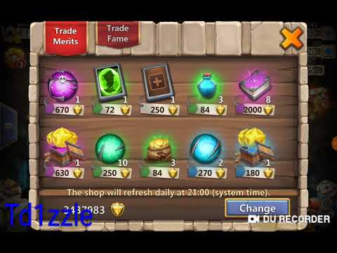 Castle Clash: Warehouse: What Should U Buy?
