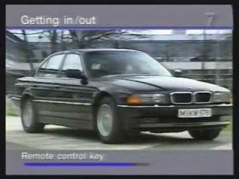 BMW 7 Series Operational Video 1997 Edit