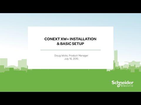 [Webinar Replay] Conext XW+ Installation & Basic Setup