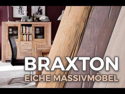 Unser exklusives Eiche Massivholz Wohnprogramm 'Braxton'