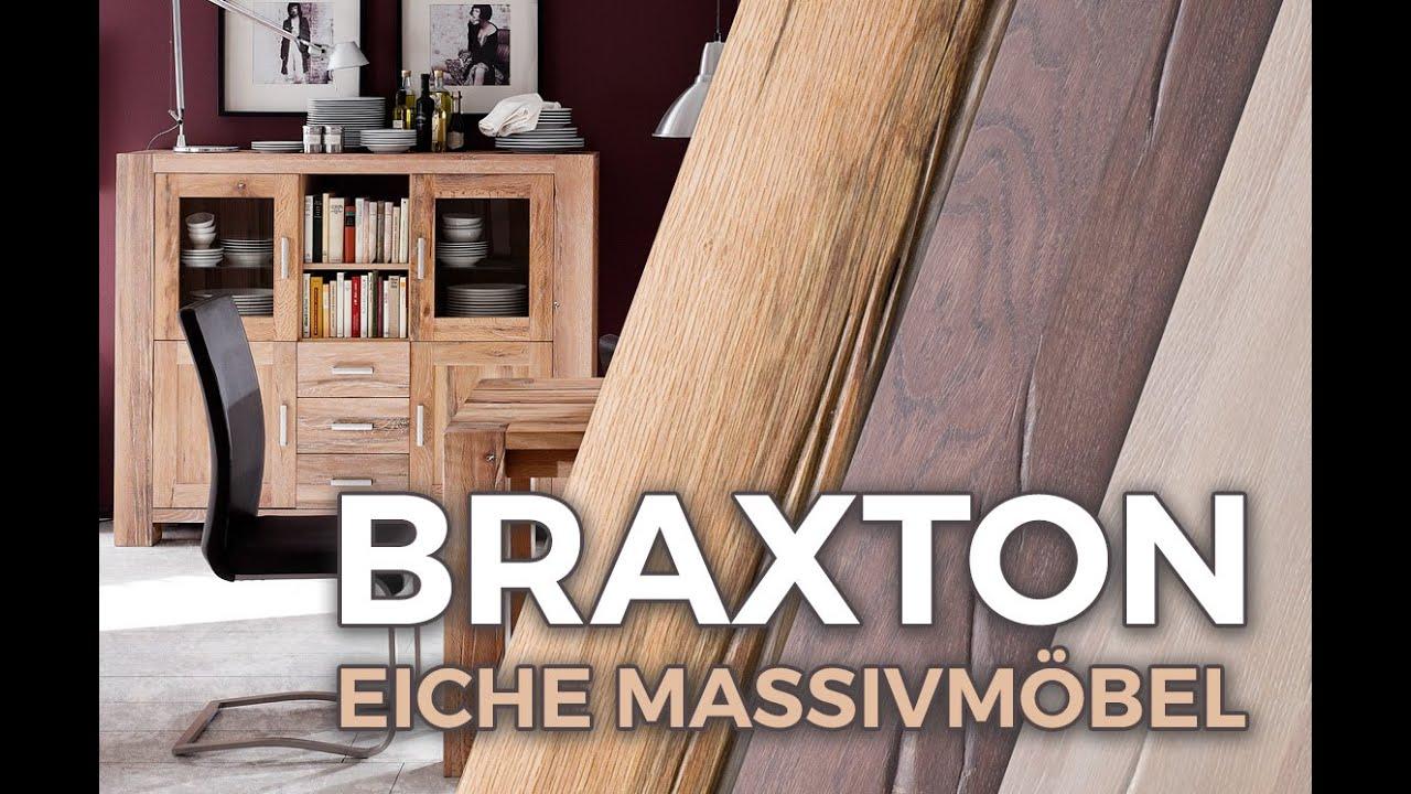 Unser exklusives Eiche Massivholz Wohnprogramm \'Braxton\' - YouTube