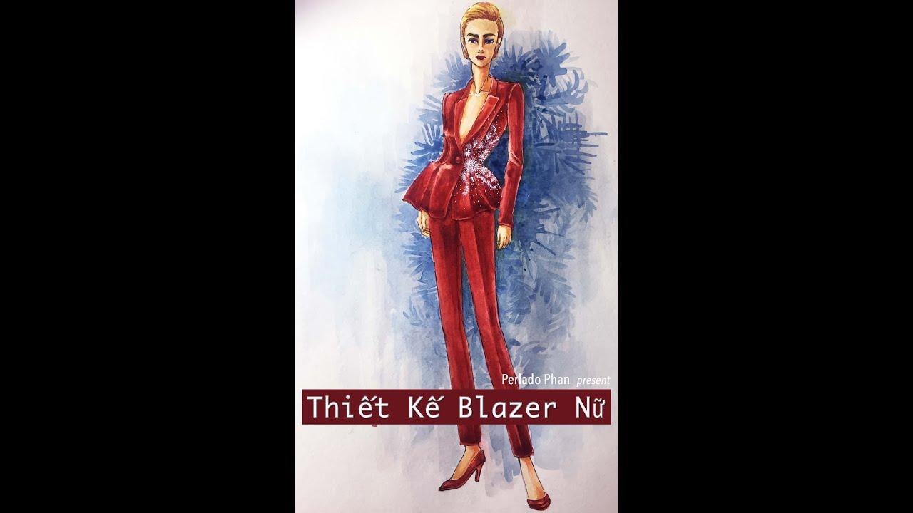 Vẽ Màu Nước Cho Bộ Blazer Nữ – Watercolor Painting For Women Blazer