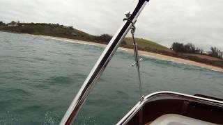 ski boat beaching tinly
