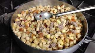 Sausage Stuffing With Cranberries And Apples Recipe By Chef Pat Marone