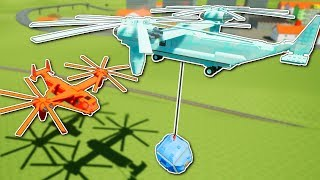 HELICOPTER WRECKING BALL BATTLE! - Brick Rigs Multiplayer Gameplay - Helicopter Battle!
