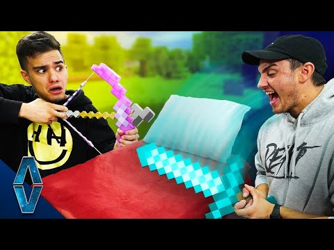 Playing Minecraft Bed Wars IN REAL LIFE!