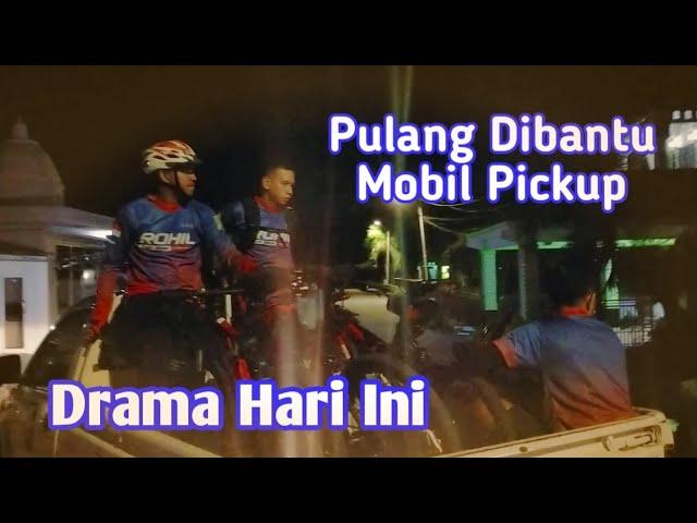 Drama Gowes di Bagansiapiapi, Pulang Dibantu Mobil Pickup