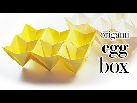 Origami Easter Egg Box Tutorial (Modular) - DIY - Paper Kawaii