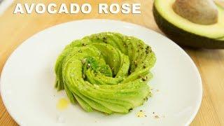 Avocado Rose Garnish Tutorial