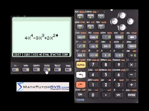 Finding Roots Of Polynomials Using The Hp 50g Calculator Youtube