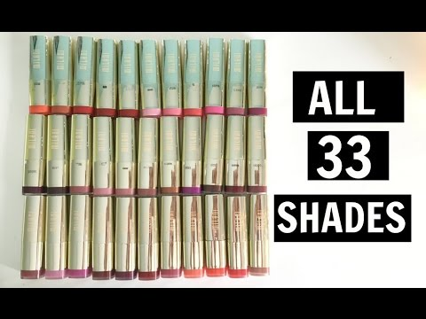 FULL COLLECTION | Milani Color Statement Lipsticks | Lip Swatches + Review