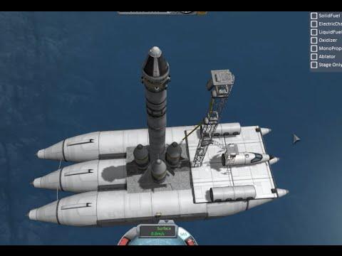 KSP Barge Launch