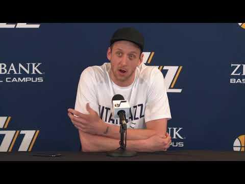 Joe Ingles – End of Season Interview – Utah Jazz – 2017/2018 NBA Season (May 9, 2018)