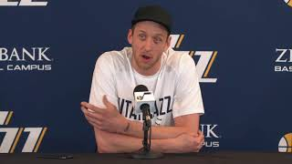 Joe Ingles – End of Season Interview – Utah Jazz – 2017/2018 NBA Season (May 9, 2018)