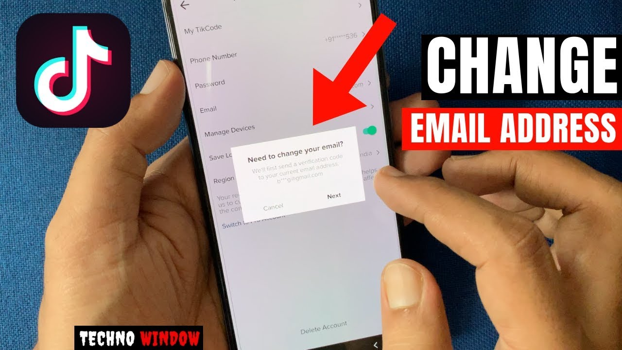 How To Change Email In Tiktok Account Youtube