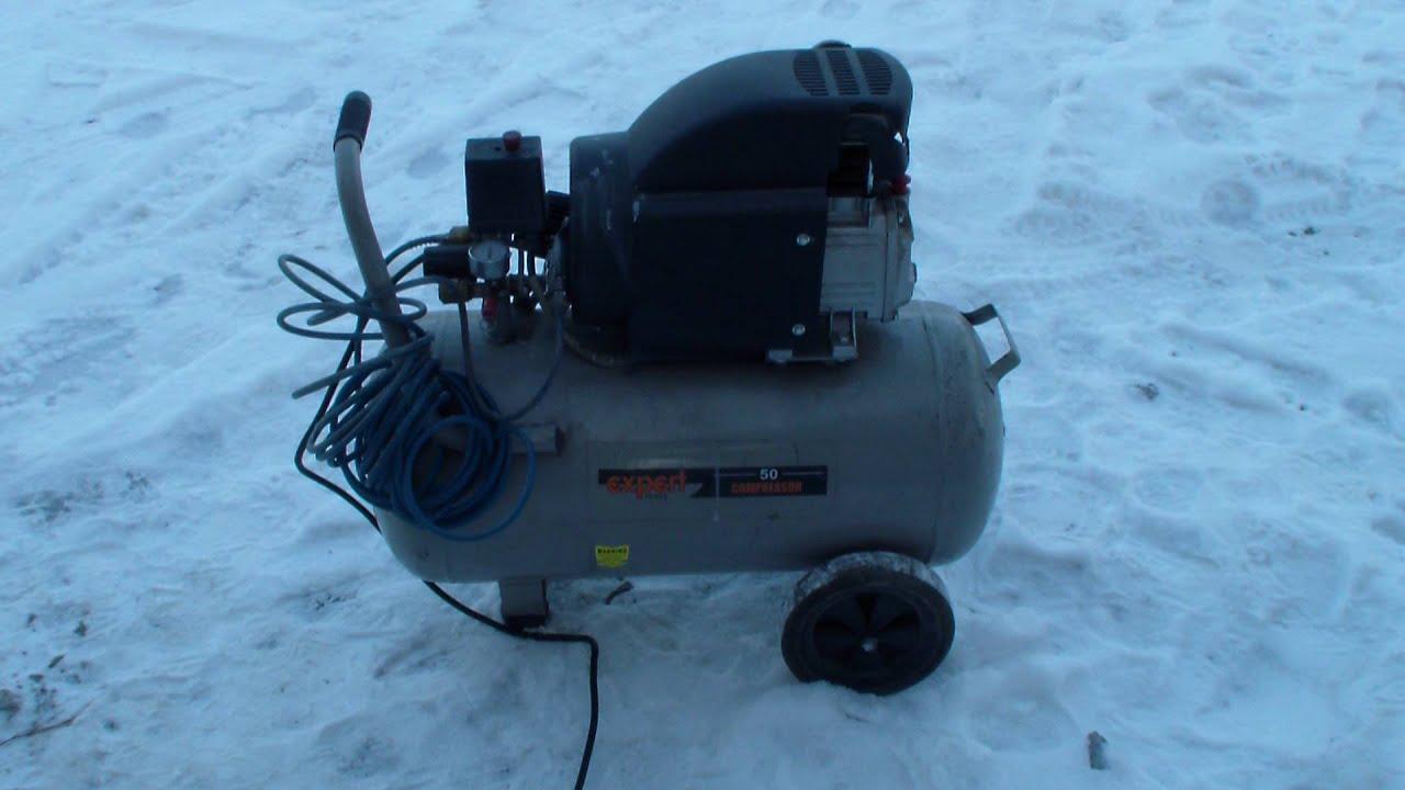 как запустить воздушный компрессор в сильный мороз