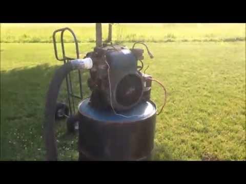 Wood Gasifier Runs 16 hp Engine
