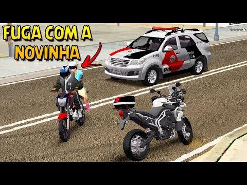 GTA SA - FUGA NA FAVELA  DE HONDA 160  & BUSCANDO A NOVINHA PRO ROLÊ