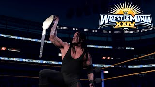Undertaker Vs Edge World Heavyweight Championship Match |WrestleMania 24-WWE-2K16 simulation