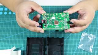 how to assemble the case with cooling fan and heatsinks for raspberry pi 3