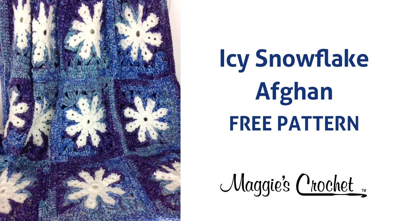 Icy Snowflake Afghan Free Crochet Pattern Right Handed Youtube