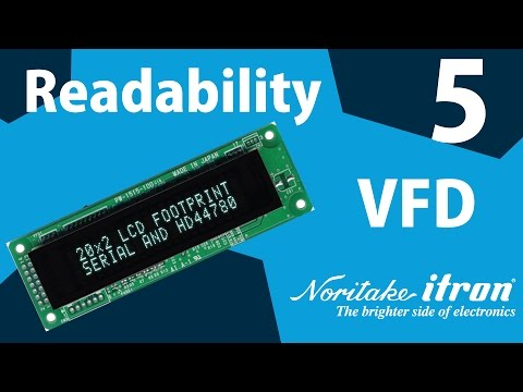 Noritake VFD: Readability Part 5 - 11 mm & 9 mm Character Height Comparison