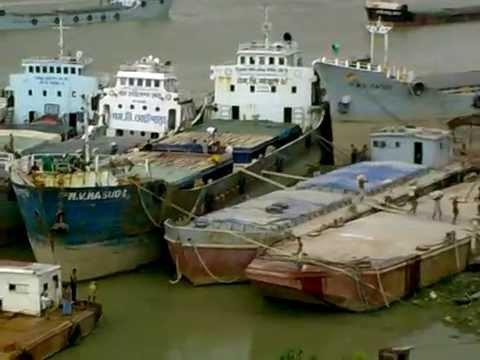 karnafuli river view from Karnafuli shipward, Chittagong   Bangladesh
