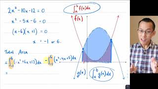 Areas Between Curves (2 of 3: Evaluating the integrals)