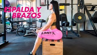Espalda y Brazo Full back and arm workout Ana Mojica Fitness