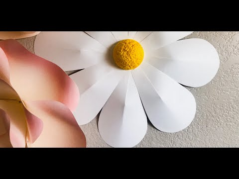 Daisy Paper Flower Tutorial by Ann Neville Design