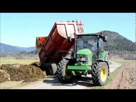 John Deere 5090r & Deutz-Fahr AgroPlus 67 à la mise de Bennes en Depots !