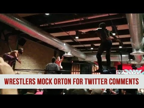 DIVE... Indie Wrestle Completely Mock Randy  Orton For Twitter Comments (VIDEO)