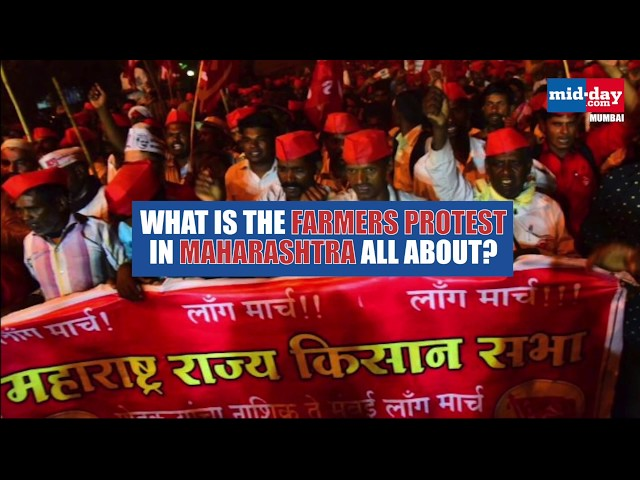 What is the farmers protest in Maharashtra all about?
