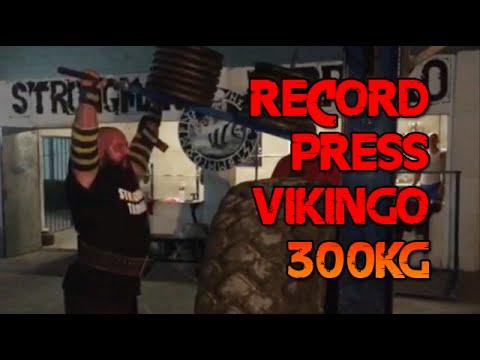 CARLOS DEMATTEY 300KG [661LB] PRESS VIKINGO RECORD [VIKING PRESS]