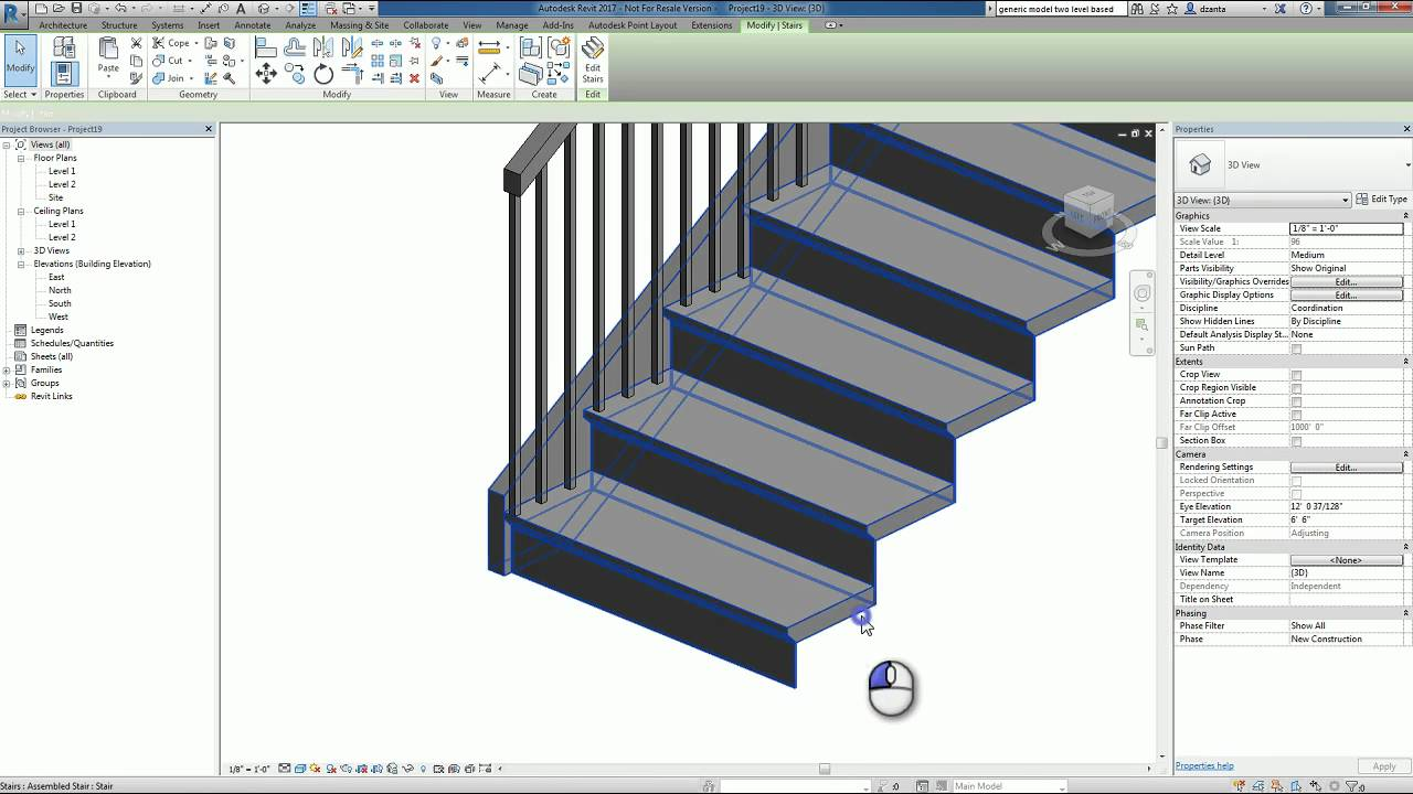 Revit Families Series Custom Nosing Profile How To Youtube