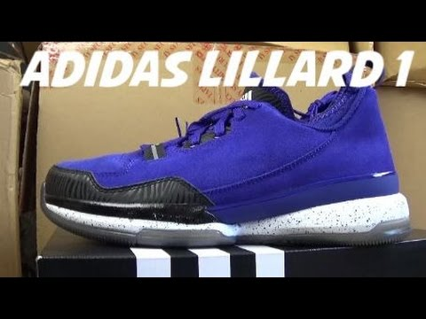 adidas basketball shoes damian lillard. adidas damian lillard 1 weber state purple basketball shoe review,sizing + on foot with @djdelz shoes 2