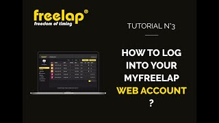 How to log into your MyFreelap web account - Tutorial