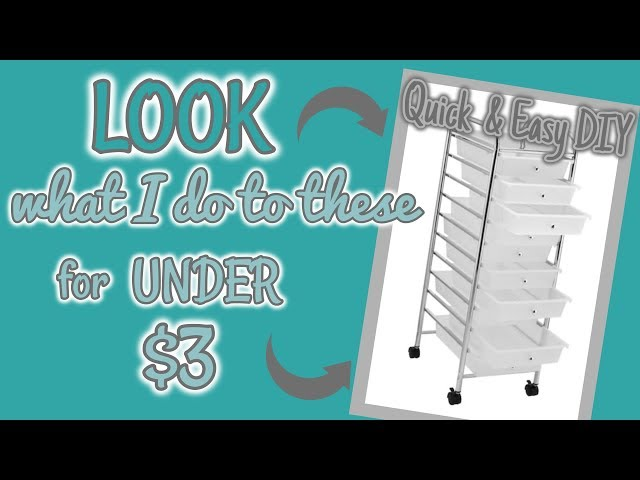 LOOK what I do to these ROLLING DRAWERS for UNDER $3 | QUICK & EASY DIY