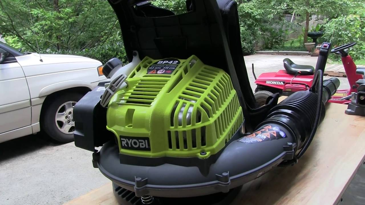 Ryobi Residential Backpack Blower Model Bp42 Youtube