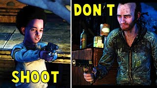 AJ Shoots vs Don't Shoot vs Attack the Stranger -All Choices- The Walking Dead The Final Season HD