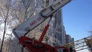 Упал кран в Кирове 19 января 2018 года