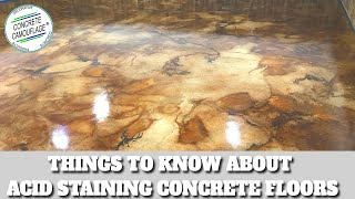 Concrete Staining Guide - 1. Important Things to Know about Acid Staining Concrete Floors & Exterior