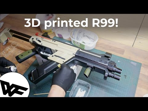 3D printed Apex Legends R99 full build